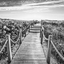 To The Beach in Black and White by Debra and Dave Vanderlaan