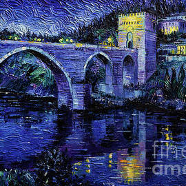Mona Edulesco - Toledo Bridge By Night