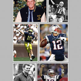 Tom Brady Football GOAT by John Farr