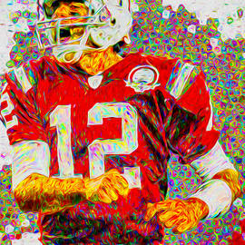 Tom Brady New England Patriots Football Nfl Painting Digitally by David Haskett II