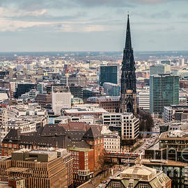 Top view of Hamburg by Marina Usmanskaya