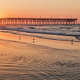 Topsail Pier Sunrise by Marcia Colelli
