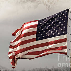 Torn Old Glory by Imagery by Charly