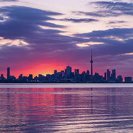 Toronto in Fifty Shades of Violet Pink and Purple by Georgia Mizuleva