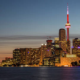 Toronto Skyline at Dusk - Adam Romanowicz