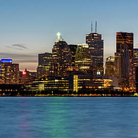 Toronto Skyline at Dusk Panoramic - Adam Romanowicz