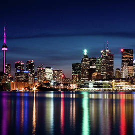Brian Carson - Toronto Skyline At Night From Polson St No 2