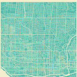 TORONTO STREET MAP - Jazzberry Blue