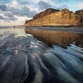 Torrey Pines Sand and Clouds by William Dunigan