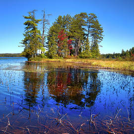 Touch Of Fall On Raquette Lake by David Patterson