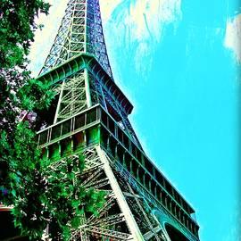 Tour Eiffel avec arbre by Christine Paris