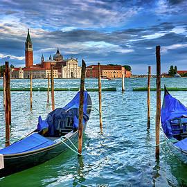 Gondolas and San Giorgio di Maggiore in Venice, Italy by Eduardo Accorinti