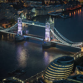 Mike Reid - Tower Bridge at Night from the Shard
