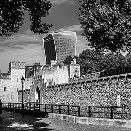 London Walkie Talkie And The Tower Of London by Nigel Dudson