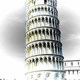Tower Of Pisa In Selective Color by Toni Abdnour