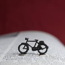 Edward Fielding - Toy bicycle on an open book
