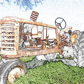 James Granberry - Tractor in color pencil
