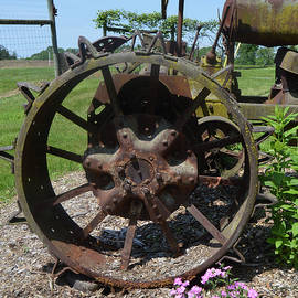 Tractor Wheel by Kathy Kelly