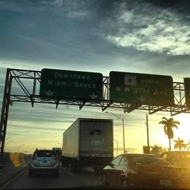 Traffic On 836, Miami, Fl, Usa