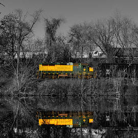 Train reflections by Andrea Swiedler