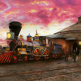 Train - The JH Devereux 1862 by Mike Savad