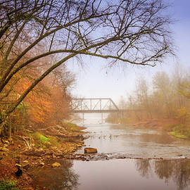 Debra and Dave Vanderlaan - Train Trestle in the Fog
