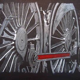 Train Wheels 1 by Richard Le Page