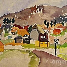 Train Whistle Stop Village  by Jeri Borst