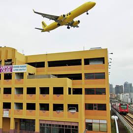 Trains, Planes and Automobiles, Laurel Parking Garage by Derrick Neill