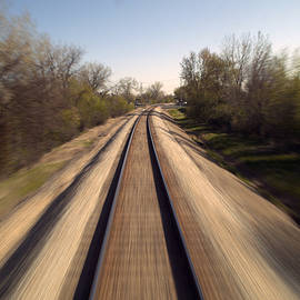Trains Power Approaching The Crossing by Thomas Woolworth