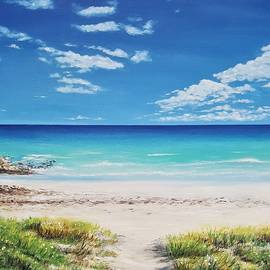 Tranquil Beach by Jessica T Hamilton