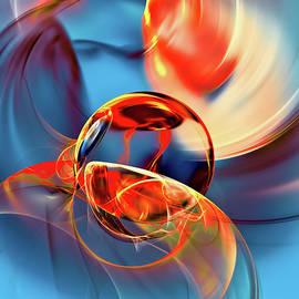 Transparent Fireball by Marfffa Art