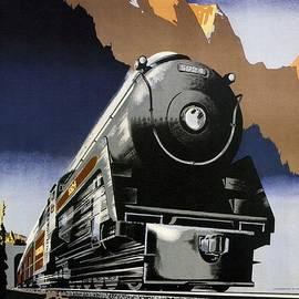 Travel Canadian Pacific Across Canada - Steam Engine Train - Retro travel Poster - Vintage Poster - Studio Grafiikka