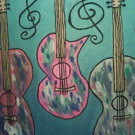Three guitar's Macke lovely music by Marcela Hessari