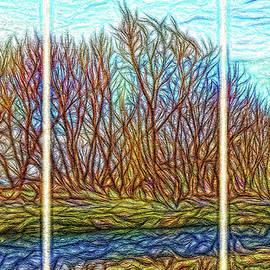 Joel Bruce Wallach - Tree River Daydream - Triptych