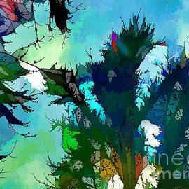 Tree Spirit Abstract Digital Painting by Robyn King