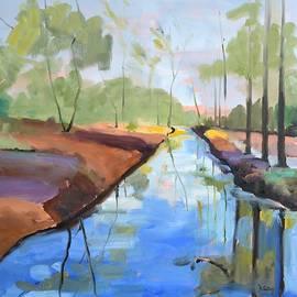 Donna Tuten - Trees Reflected oil painting