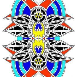 Graham Roberts - Tribal Bird- Blue Halo