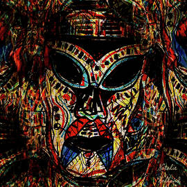 Tribal Warrior Mask by Natalie Holland