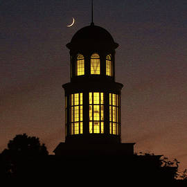 Olahs Photography - Trible Library Dome And Crescent Moon