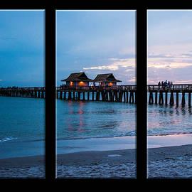 Karen Regan - Triptych of Naples Pier