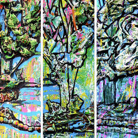Genevieve Esson - Triptych Of Three Trees By A Brook