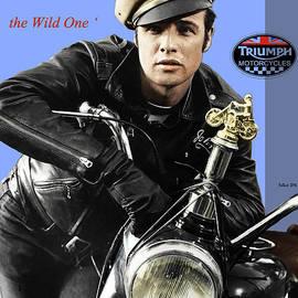 Triumph Thunderbird 650 CC motorcycle, the Wild One, Marlon Brando
