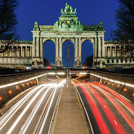 Arcade Du Ciquantenaire At Blue Hour by Barry O Carroll