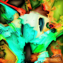 Wingsdomain Art and Photography - Tropical Angel Fish In Abstract 20170325v5 square