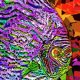 Wingsdomain Art and Photography - Tropical Fish Discus In Abstract 20170325v3