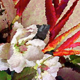 Tropical Flowers Abstract by Dana Roper