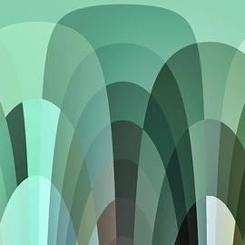 Kathy K McClellan - Tropical Mounds Abstract