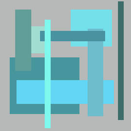 Kathy K McClellan - Tropical Oceans Square Abstract