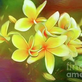 Kaye Menner - Tropical Plumeria Art by Kaye Menner